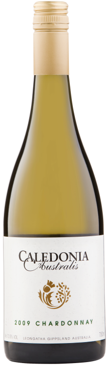 Caledonia Australis Chardonnay 2009 bottle shot clear